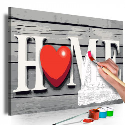 DIY lærred maleri - Home...