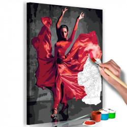 DIY lærred maleri - Red Dress