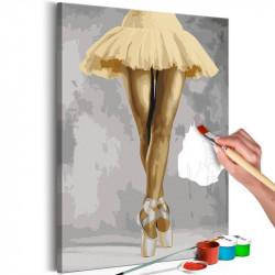DIY lærred maleri - Yellow...