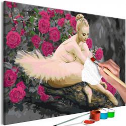 DIY lærred maleri - Rose...