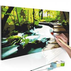 DIY lærred maleri - Footbridge