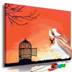 DIY lærred maleri - Open Cage