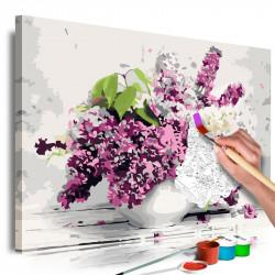 DIY lærred maleri - Vase...