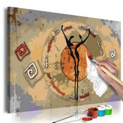 DIY lærred maleri - African...