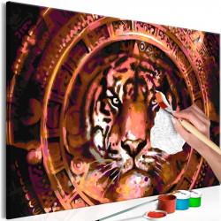 DIY lærred maleri - Tiger...