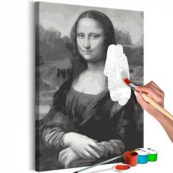 DIY lærred maleri - Black...