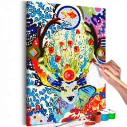DIY lærred maleri - Deer...