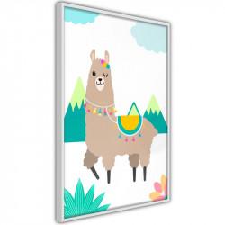 Plakat - Playful Llama
