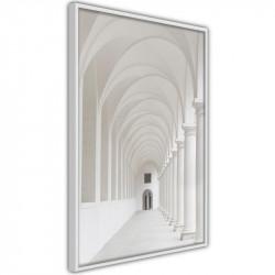 Plakat - White Colonnade
