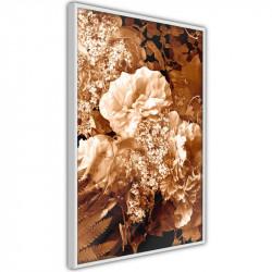 Plakat - Bouquet in Sepia