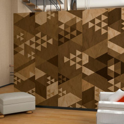 Fototapet - Brown patchwork