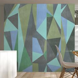 Fototapet - Gray triangles