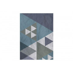 Fototapet - Blue patchwork
