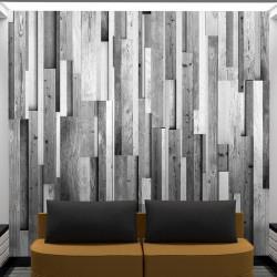 Fototapet - Gray wood
