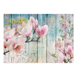 Fototapet - Pink Flowers on...