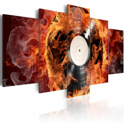 Billede - Vinyl on fire