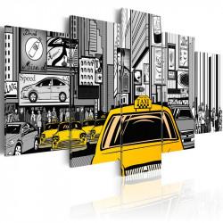 Billede - Cartoon taxi