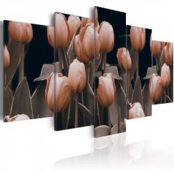 Billede - Tulipaner i sepia