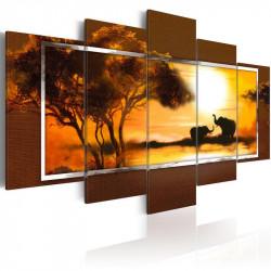 Billede - Møde på savannen