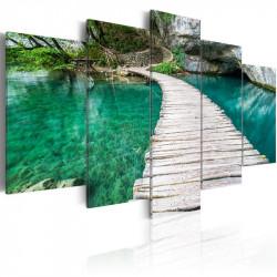 Billede - Turquoise lake