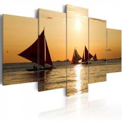 Billede - Sailbloats at dusk