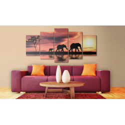 Billede - African elephants...