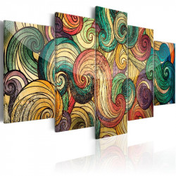 Billede - Colourful Waves
