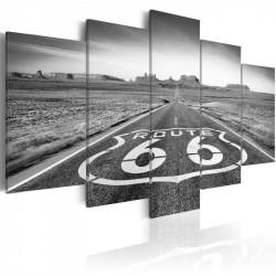 Billede - Route 66 - black...