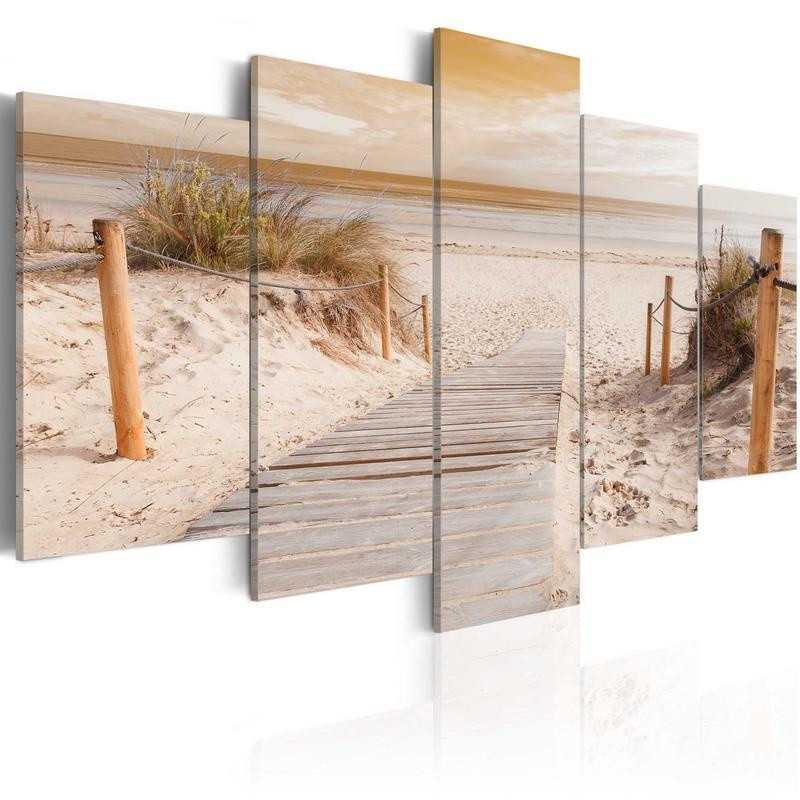 Billede - Morning on the beach - sepia