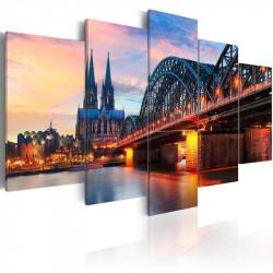 Billede - Evening in Cologne