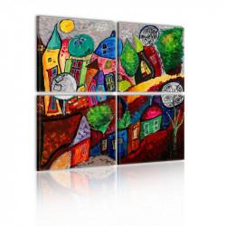 Billede - Colourful city