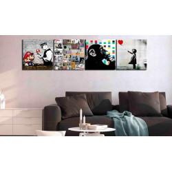 Billede - Banksy Collage (4...