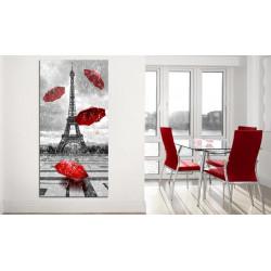 Billede - Paris: Red Umbrellas