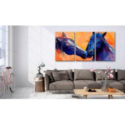 Billede - Blue Horses