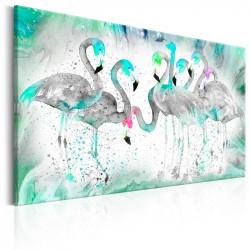 Billede - Turquoise Flamingoes