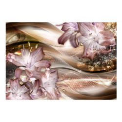 Fototapet - Lilies on the...