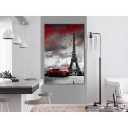 Billede - Red Car in Paris...