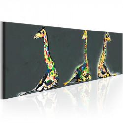 Billede - Colourful Giraffes