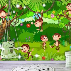Fototapet - Monkey Tricks