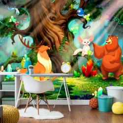 Fototapet - Bear and Friends