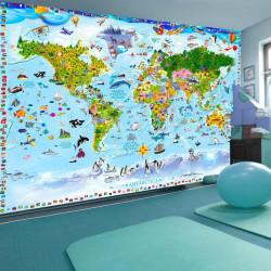 Fototapet - World Map for Kids