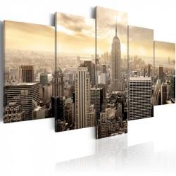 Billede - New York and sunrise