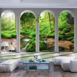 Fototapet - Pillars and Forest