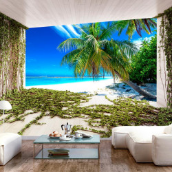 Fototapet - Beach and Ivy