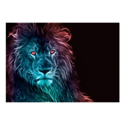 Fototapet - Abstract lion -...