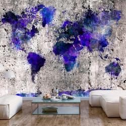 Fototapet - World Map: Ink...