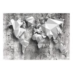 Fototapet - World Map: Origami