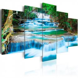 Billede - Blue Waterfall in...