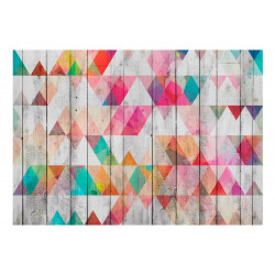 Fototapet - Rainbow Triangles