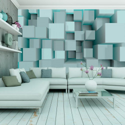 Fototapet - Blue puzzle